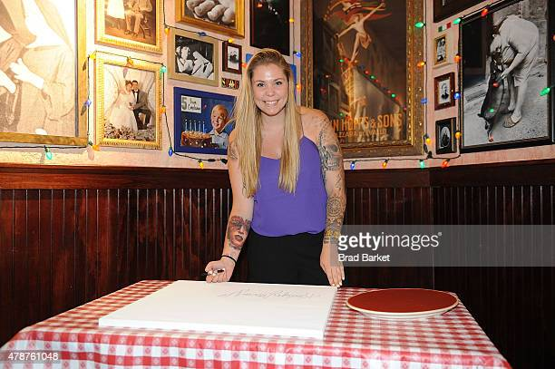 Kailyn Lowry visits Buca di Beppo Times Square at Buca di Beppo on June 27 2015 in New York City