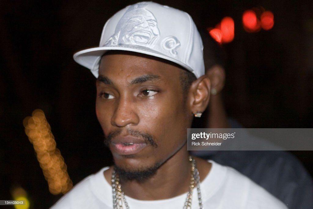 Kaine of Ying Yang Twins outside the Shore Club in Miami's South Beach after rap mogul Suge Knight was shot in the leg during the early hours of...