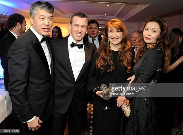 Kairat Boranbayev Igor Vernik Sholpan Boranbayeva and Mira Anafina attend a gala evening celebrating Old Russian New Year's Eve in aid of the Gift Of...