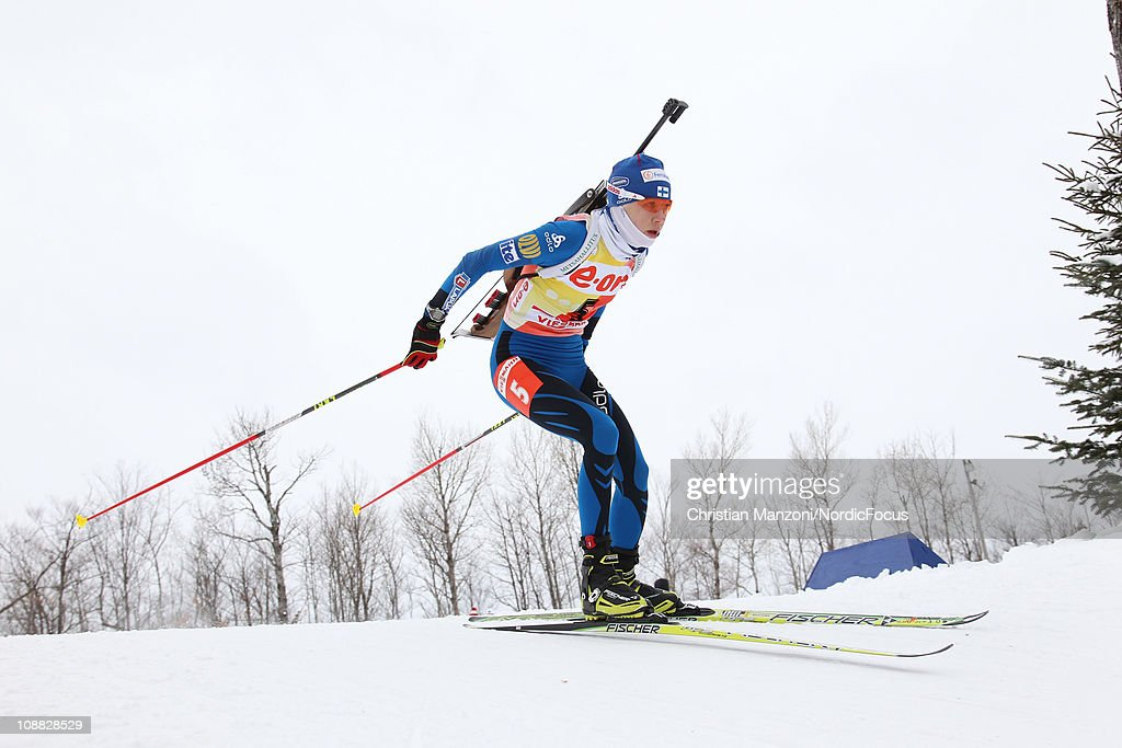 Kaisa Maekaeraeinen of Finland competes in the women's sprint during the E.ON IBU Biathlon World Cup on February 4, 2011 in Presque Isle, United States.