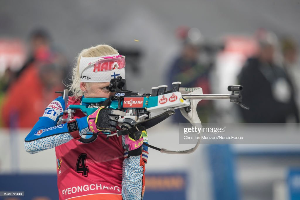 Kaisa Makarainen of Finland competes during the 10 km women's Pursuit on March 4, 2017 in Pyeongchang-gun, South Korea.