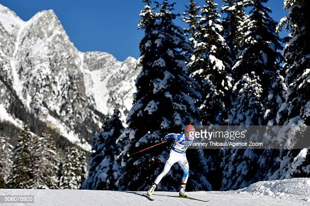 Kaisa Makarainen of Finland competes during the IBU Biathlon World Cup Women's Sprint on January 21 2016 in AntholzAnterselva Italy