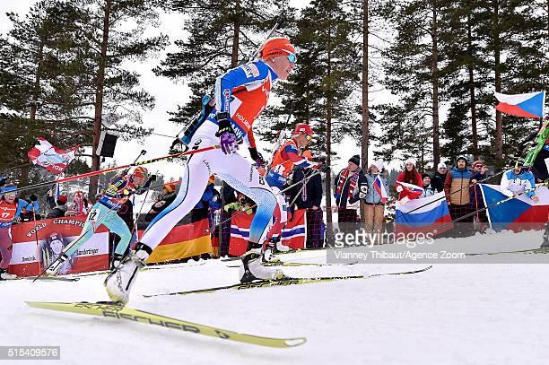 Kaisa Makarainen of Finland wins the bronze medal during the IBU Biathlon World Championships Men's and Women's Mass Start on March 13 2016 in Oslo...