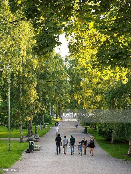 Kaisaniemi park in Helsinki, Finland