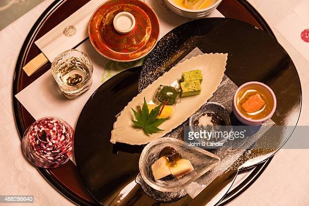 IZU SHUZENJI SHIZUOKA JAPAN Kaiseki is a traditional Japanese dinner served in a series of courses Kaiseki draws on a number of traditional Japanese...