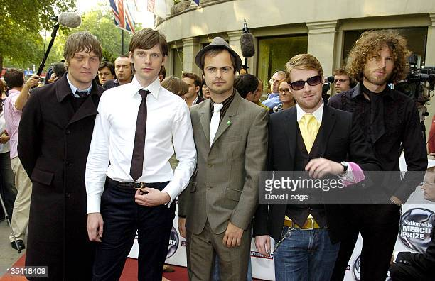 Kaiser Chiefs during 2005 Nationwide Mercury Music Prize at Grosvenor House in London Great Britain