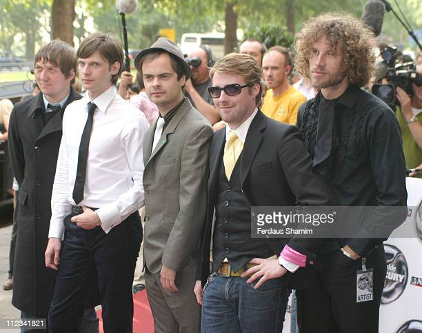 Kaiser Chiefs during 2005 Nationwide Mercury Prize Outside Arrivals at Grosvenor House in London Great Britain