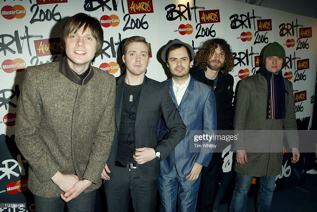 Kaiser Chiefs during The Brit Awards 2006 with MasterCard Shortlist Announced at Riverside Studios in London Great Britain