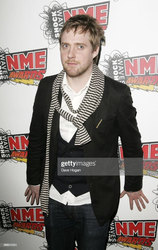 Kaiser Chiefs frontman Ricky Wilson poses in the Awards Room at the Shockwaves NME Awards 2006 the weekly music magazine's annual awards at which...