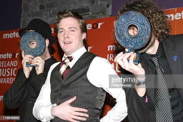 Kaiser Chiefs who won Best International Album during Meteor Ireland Music Awards 2006 Press Room at The Point in Dublin Ireland