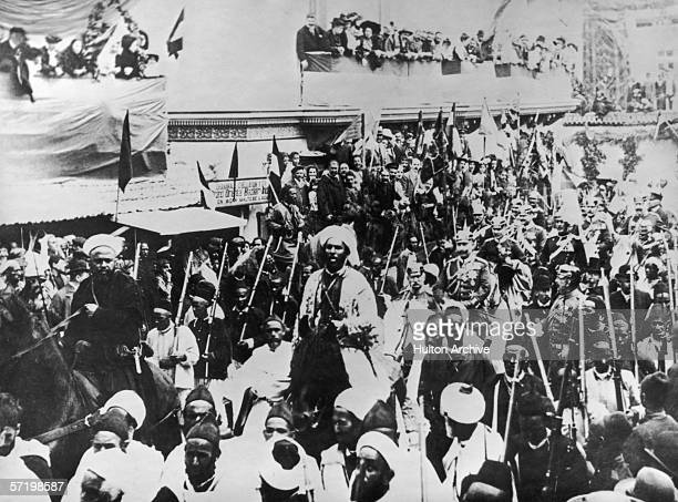 Kaiser Wilhelm II of Germany enters Tangiers Morocco during a state visit 31st March 1905 Remarks made by Wilhelm during his visit in favour of the...