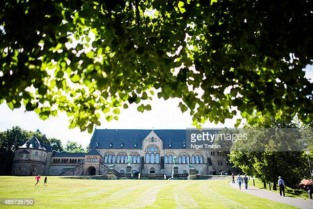 Kaiserpfalz Imperial Palace is pictured on August 29 2015 in Goslar Germany Goslar town Mayor Oliver Junk has been outspoken in seeing foreign...