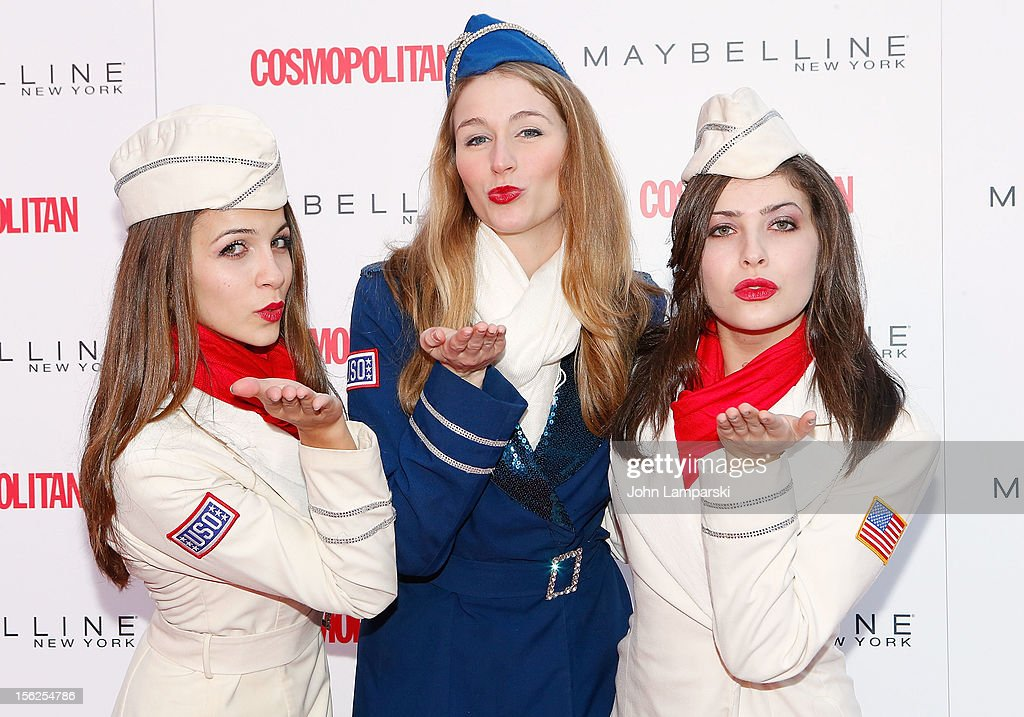 Kaitlin Monti, Allison Rihn and Kristen Da Costa attend 2012 Kisses For The Troops at Times Square on November 12, 2012 in New York City.