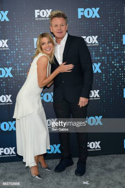 Kaitlin Olson and Gordon Ramsay attend the 2017 FOX Upfront at Wollman Rink on May 15 2017 in New York City