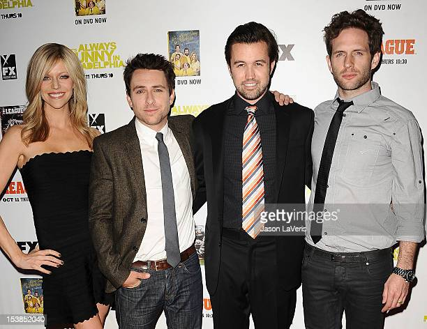 Kaitlin Olson Charlie Day Rob McElhenney and Glenn Howerton attend the FX season premiere screenings for 'It's Always Sunny In Philadelphia' and 'The...