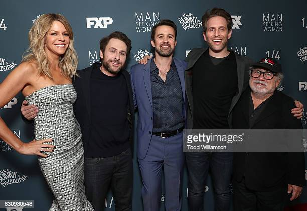 Kaitlin Olson Charlie Day Rob McElhenney Glenn Howerton and Danny DeVito attend the Premiere Of FXX's 'It's Always Sunny In Philadelphia' Season 12...