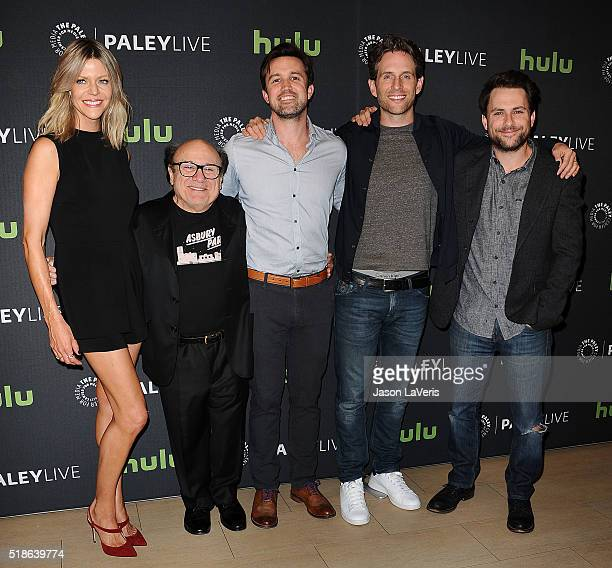 Kaitlin Olson Danny DeVito Rob McElhenney Glenn Howerton and Charlie Day attend an evening with 'It's Always Sunny In Philadelphia' at The Paley...