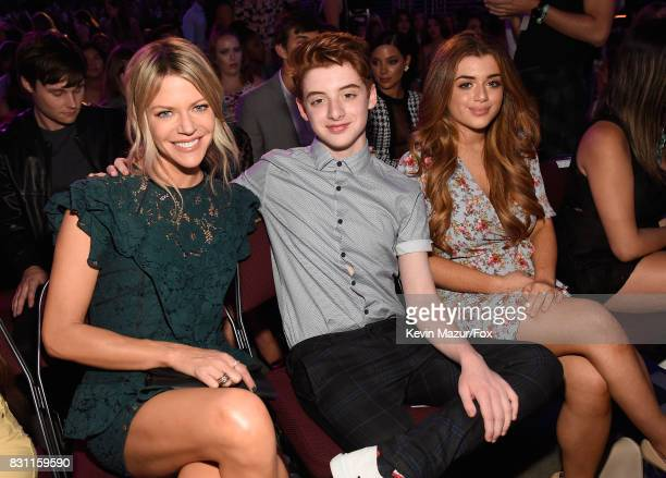 Kaitlin Olson Thomas Barbusca and Brielle Barbusca attend Teen Choice Awards 2017 at Galen Center on August 13 2017 in Los Angeles California