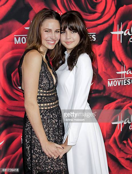 Kaitlin Riley and Bailee Madison attend Hallmark Channel Movies and Mysteries Winter 2017 TCA Press Tour at The Tournament House on January 14 2017...