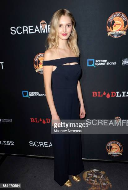 Kaitlyn Bernard attends the premiere of Netflix's '1922' at TCL Chinese 6 Theatres on October 14 2017 in Hollywood California