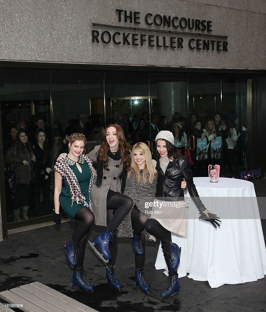 Kaitlyn Jenkins, Emma Dumont, Bailey Buntain and Julia Goldani Telles of Bunheads attend ABC Family's '25 Days Of Christmas' Winter Wonderland event at Rockefeller Center on December 2, 2012 in New York City.
