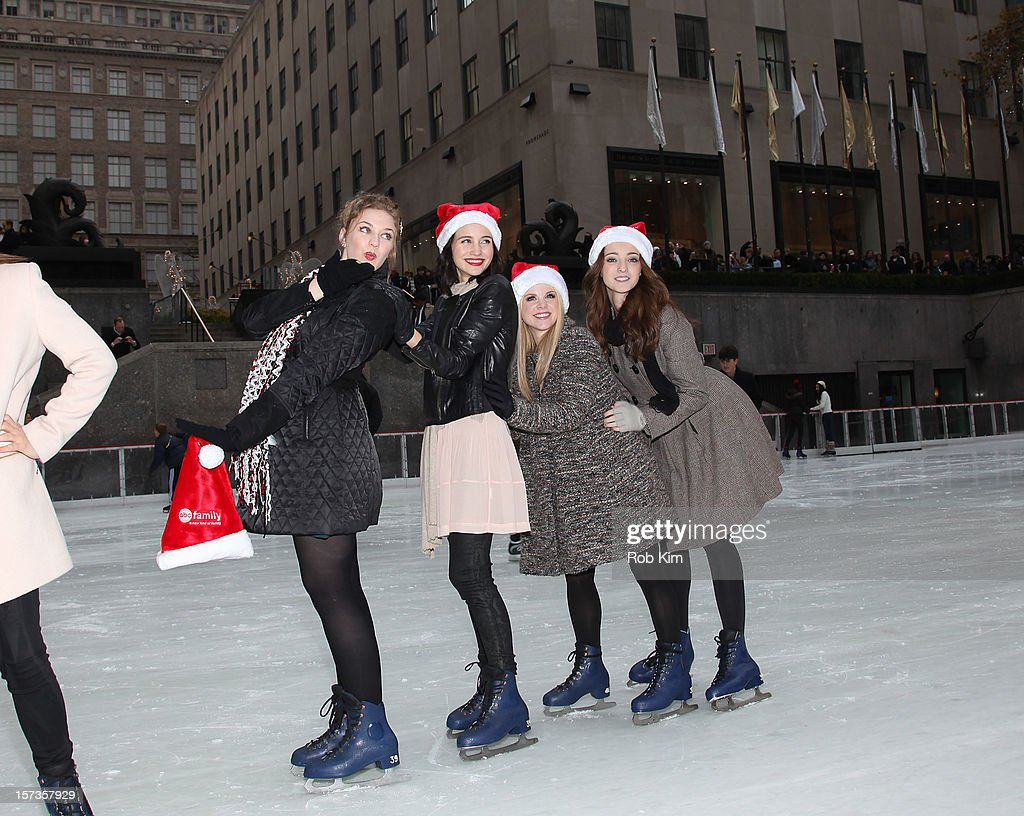 Kaitlyn Jenkins, Julia Goldani Telles, Bailey Buntain and Emma Dumont of Bunheads attend ABC Family's '25 Days Of Christmas' Winter Wonderland event at Rockefeller Center on December 2, 2012 in New York City.