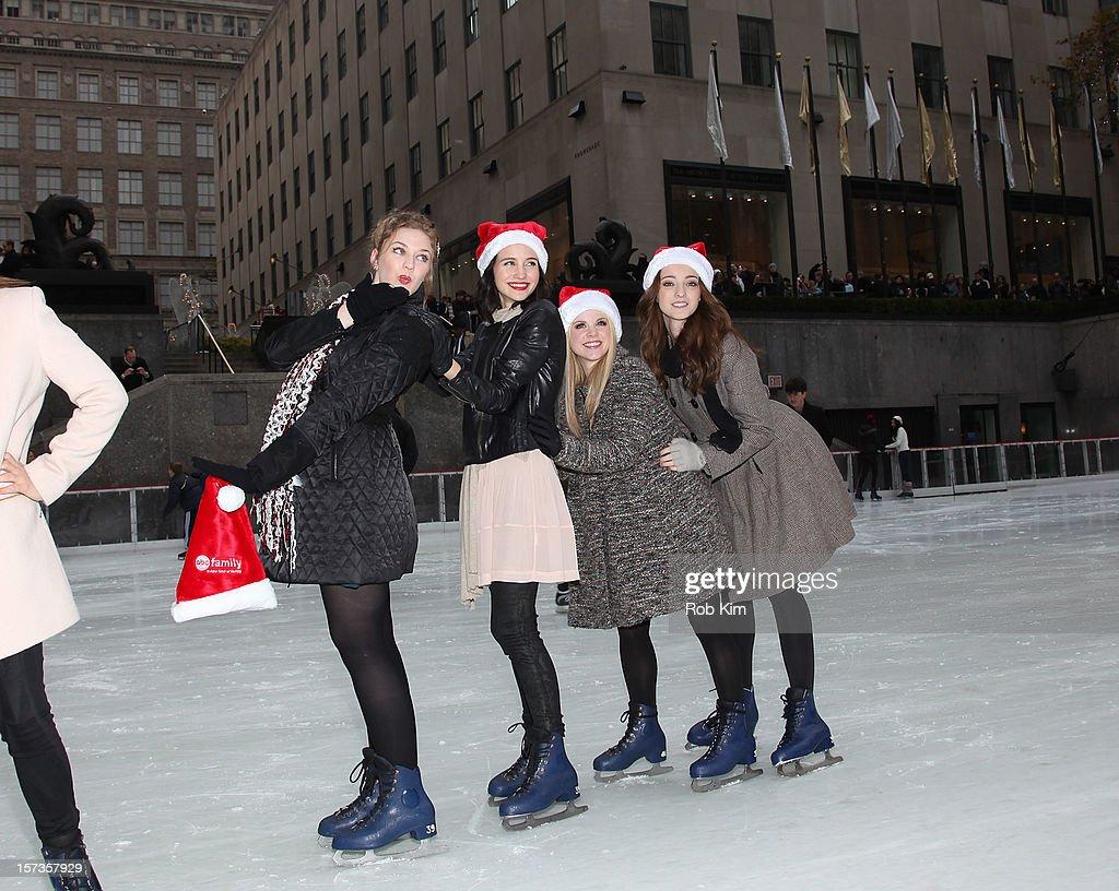 Kaitlyn Jenkins, Julia Goldani Telles, Bailey Buntain and Emma Dumont of Bunheads attend ABC Family's '25 Days Of Christmas' Winter Wonderland event at Rockefeller Center on December 2, 2012 in New York City.