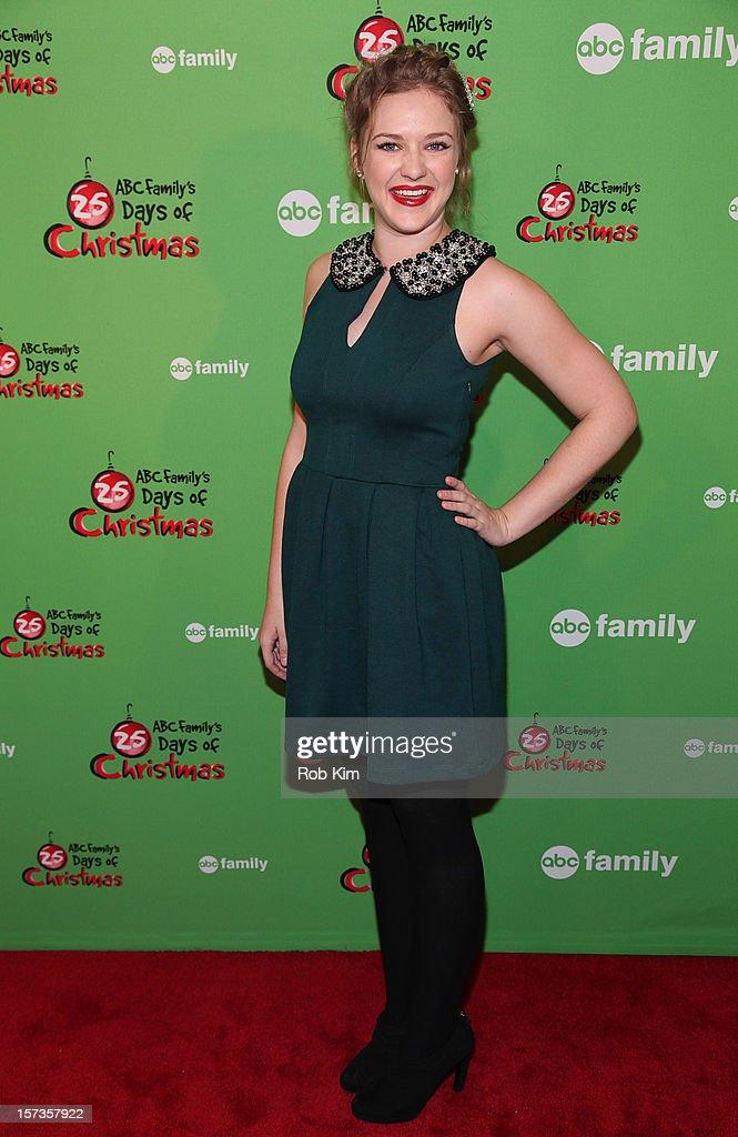 Kaitlyn Jenkins of Bunheads attends ABC Family's '25 Days Of Christmas' Winter Wonderland event at Rockefeller Center on December 2, 2012 in New York City.