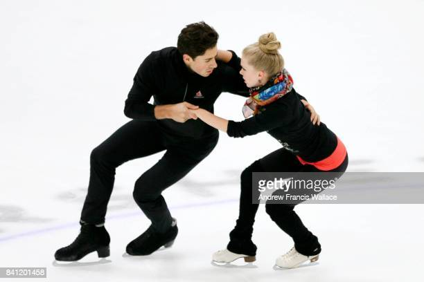 TORONTO ON AUGUST 30 Kaitlyn Weaver and Andrew Poje at Skate Canada High Performance Camp in Mississauga August 30 2017
