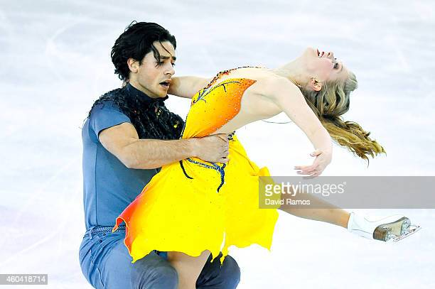 Kaitlyn Weaver and Andrew Poje of Canada compete in the Ice Dance Free Dance during day three of the ISU Grand Prix of Figure Skating Final 2014/2015...