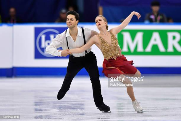 Kaitlyn Weaver and Andrew Poje of Canada compete in the Ice Dance Free Dance during ISU Four Continents Figure Skating Championships Gangneung Test...