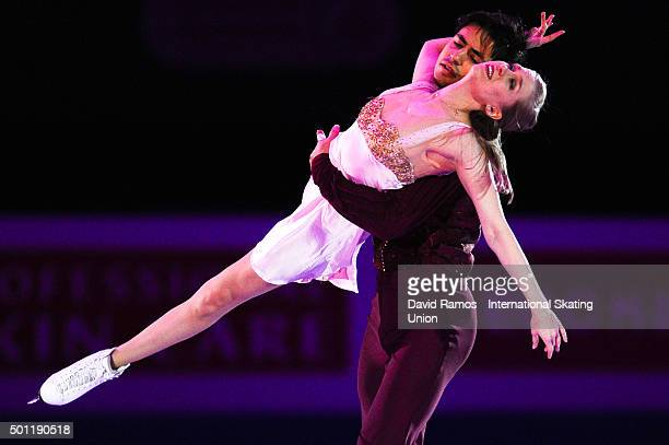 Kaitlyn Weaver and Andrew Poje of Canada perform at an exhibiton gala on day 4 of the ISU Junior Senior Grand Prix of Figure Skating Final 2015/2016...