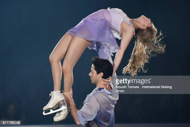 Kaitlyn Weaver and Andrew Poje of Canada perform in the gala exhibition during the day 4 of the ISU World Team Trophy 2017 on April 23 2017 in Tokyo...