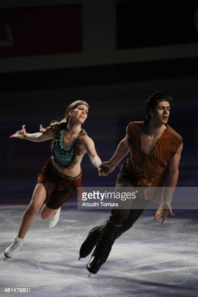 Kaitlyn Weaver and Andrew Poje of Canada perform their routine in the exhibition during ISU World Figure Skating Championships at Saitama Super Arena...