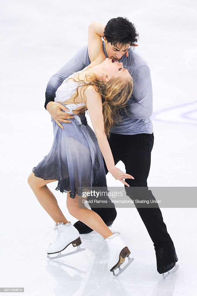 Kaitlyn Weaver and Andrew Poje of Canada performs during the Pairs Dance Free program during day three of the ISU Grand Prix of Figure Skating Final 2015/2016 at the Barcelona International Convention Centre on December 12, 2015 in Barcelona, Spain.