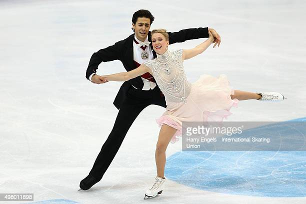 Kaitlyn Weaver and Andrew Poje of Canada skate during the Ice Dance Short Dance on day one of the Rostelecom Cup ISU Grand Prix of Figure Skating...