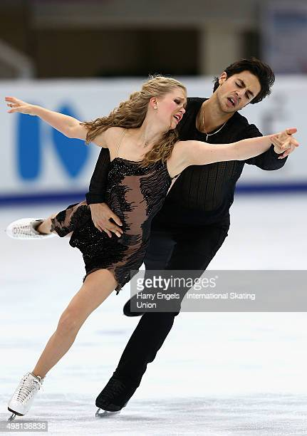 Kaitlyn Weaver and Andrew Poje of Canada skate during the Ice Dance Free Dance on day two of the Rostelecom Cup ISU Grand Prix of Figure Skating 2015...