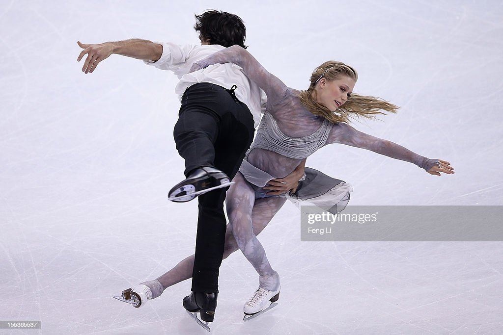 Kaitlyn Weaver and Andrew Poje of Canada skate in Ice Dance Free Dance during Cup of China ISU Grand Prix of Figure Skating 2012 at the Oriental Sports Center on November 3, 2012 in Shanghai, China.
