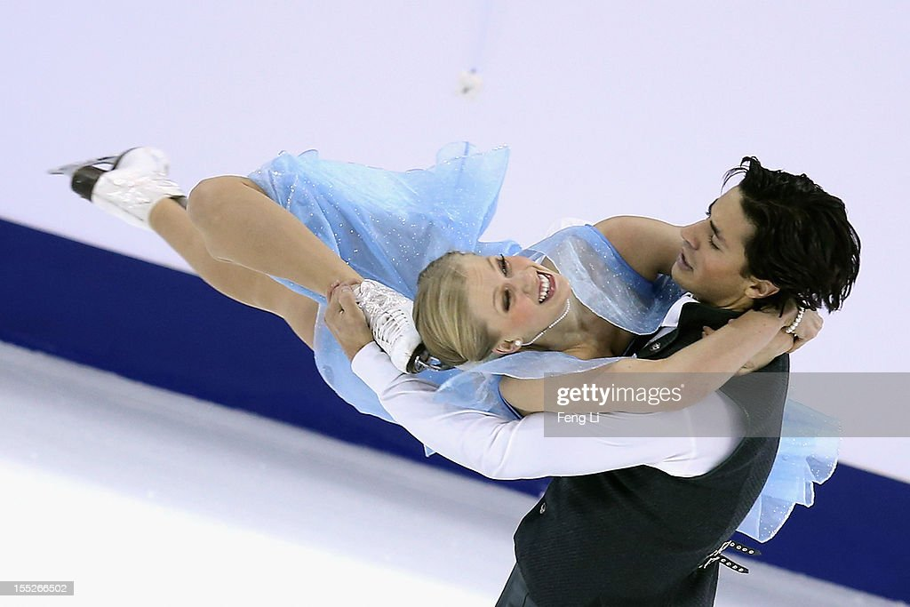 Kaitlyn Weaver and Andrew Poje of Canada skate in Ice Dance Short Dance during Cup of China ISU Grand Prix of Figure Skating 2012 at the Oriental Sports Center on November 2, 2012 in Shanghai, China.
