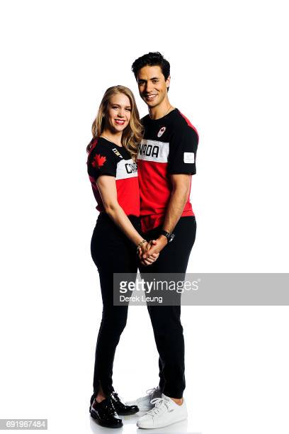 Kaitlyn Weaver and Andrew Poje pose for a portrait during the Canadian Olympic Committee Portrait Shoot on June 3 2017 in Calgary Alberta Canada
