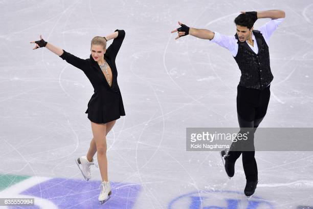 Kaitlyn Weaver Andrew Poje of Canada compete in the Ice Dance Short Dance during ISU Four Continents Figure Skating Championships Gangneung Test...