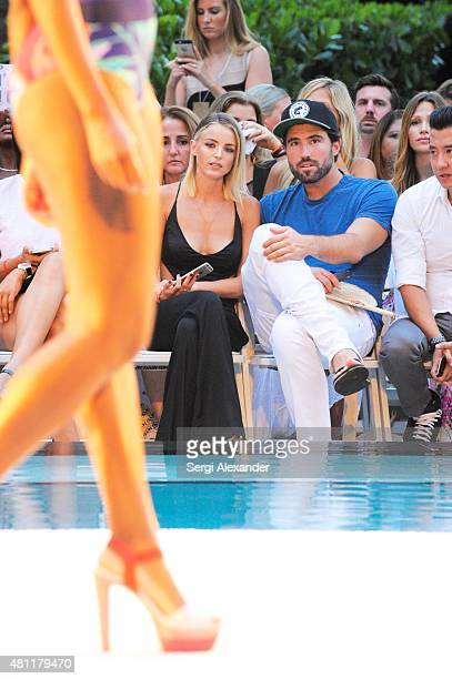 Kaitlynn Carter and Brody Jenner are seen at the San Lorenzo Bikini Show during Miami Swim Week at W South Beach on July 17 2015 in Miami Beach...