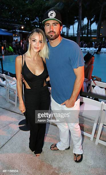 Kaitlynn Carter and Brody Jenner attend the Hammock Fashion Show during Miami Swim Week at W South Beach on July 17 2015 in Miami Beach Florida