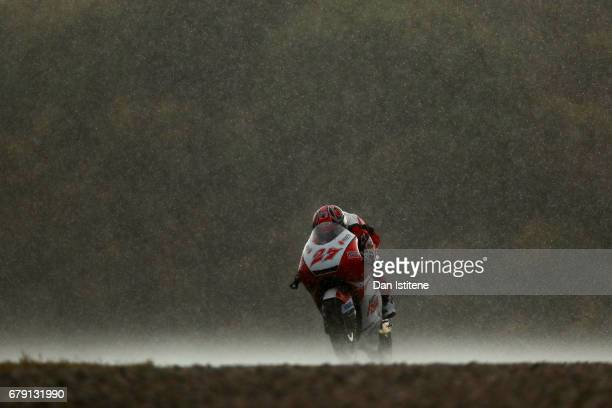 Kaito Toba of Japan and Honda Team Asia rides during free practice for Moto3 at Circuito de Jerez on May 5 2017 in Jerez de la Frontera Spain