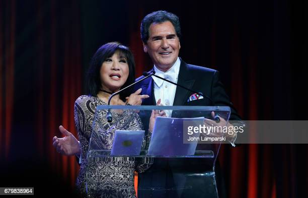 Kaity Tong and Ernie Anastos attend 60th Anniversary New York Emmy Awards Gala at Marriott Marquis Times Square on May 6 2017 in New York City