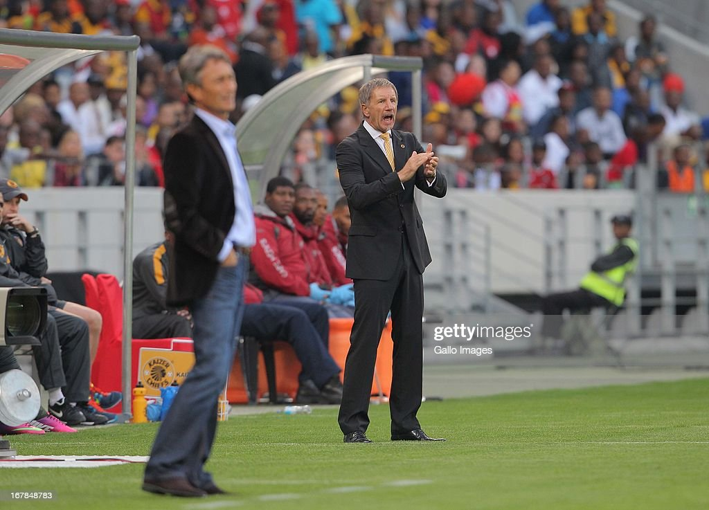 Kaizer Chiefs coach Stuart Baxter during the Absa Premiership match between Ajax Cape Town and Kaizer Chiefs at Cape Town Stadium on May 01 2013 in...