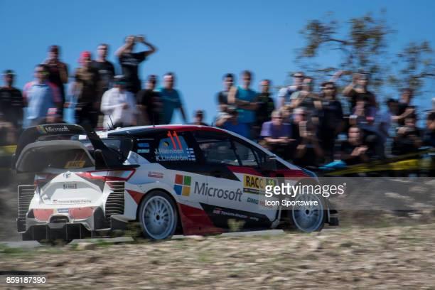 Kaj Lindstrom of Toyota Gazoo Racing during second run of the Savalla Stage of the Rally de Espana round of the 2017 FIA World Rally Championship on...