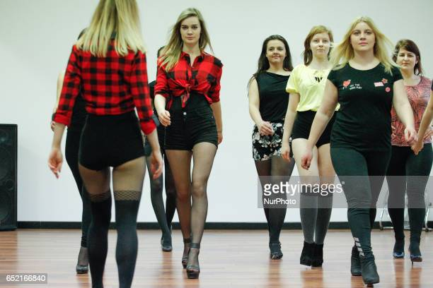 Kaja Sobieraj gives dancing lessons in her studio in Bydgoszcz Poland on 11 March 2017 On the occasion of the week in which Internationasl Womens Day...