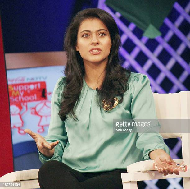 Kajol at the Coca Cola Support My School Telethon in Mumbai on Sunday