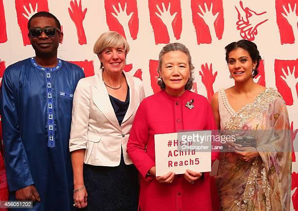 Kajol Youssou N'Dour Mrs Ban Soontaek Mrs Polman handwashing ambassadors Kajol and Youssou N'Dour together with Mrs Ban Soontaek and Mrs Kim Polman...